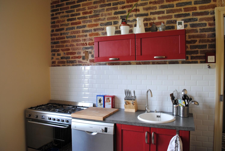 Плитка кирпич на кухне