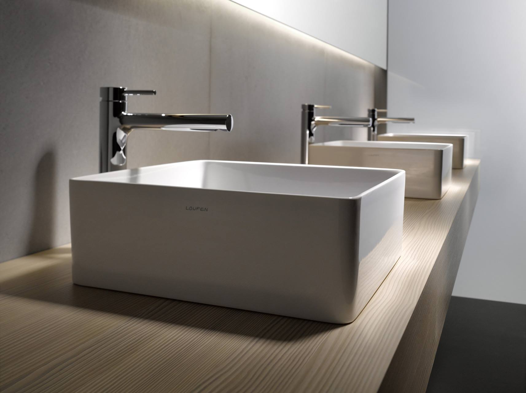 Квадратная раковина для ванной