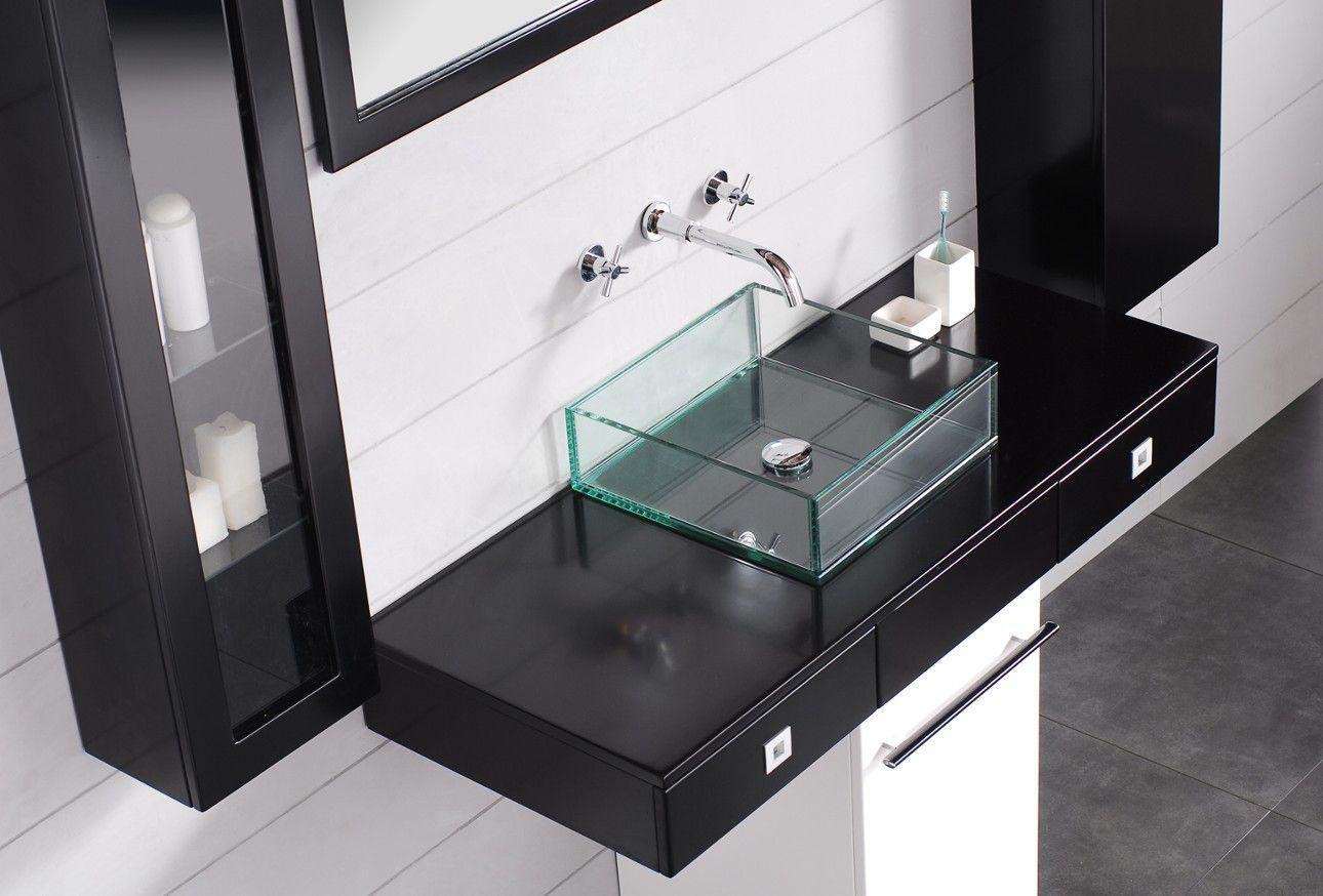 Квадратная стеклянная раковина