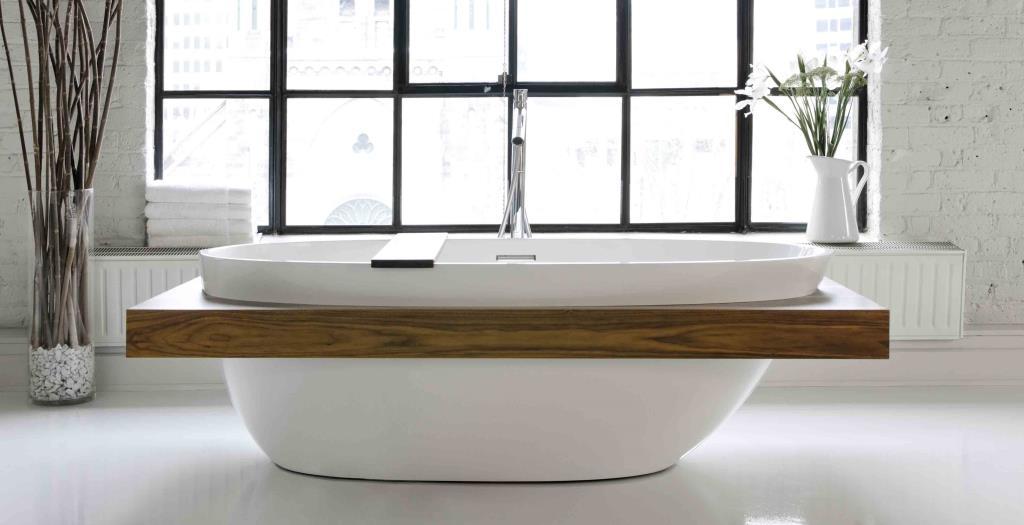 Ванная без раковины в стиле лофт