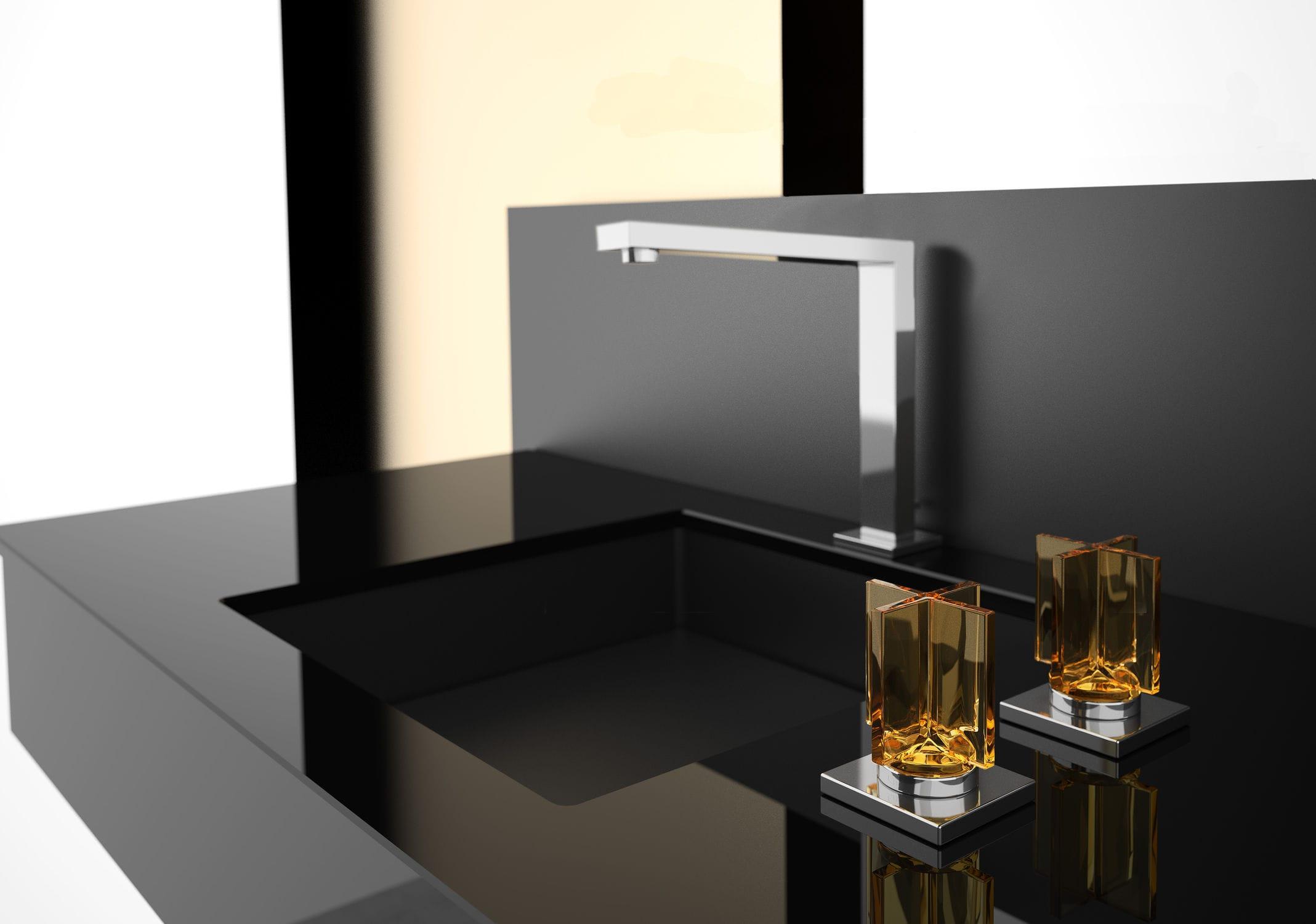Смеситель для ванной в стиле модерн