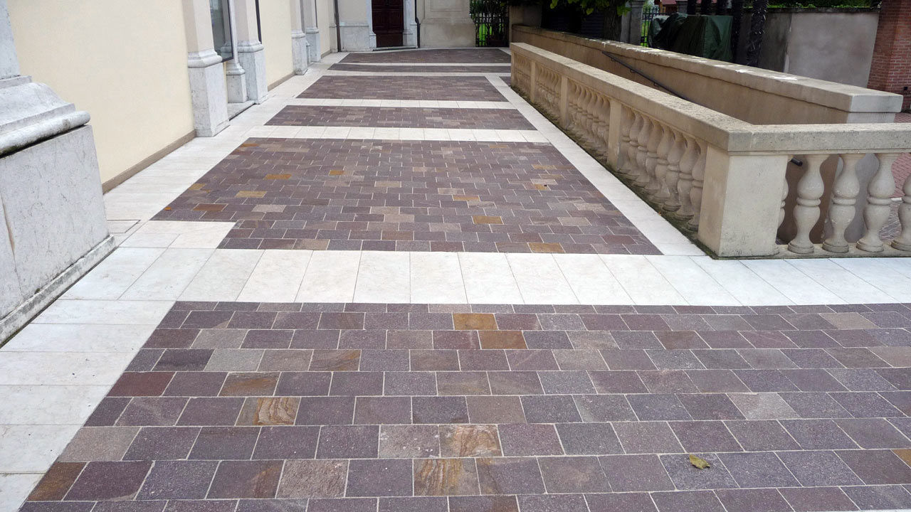 Тротуарная плитка под мрамор
