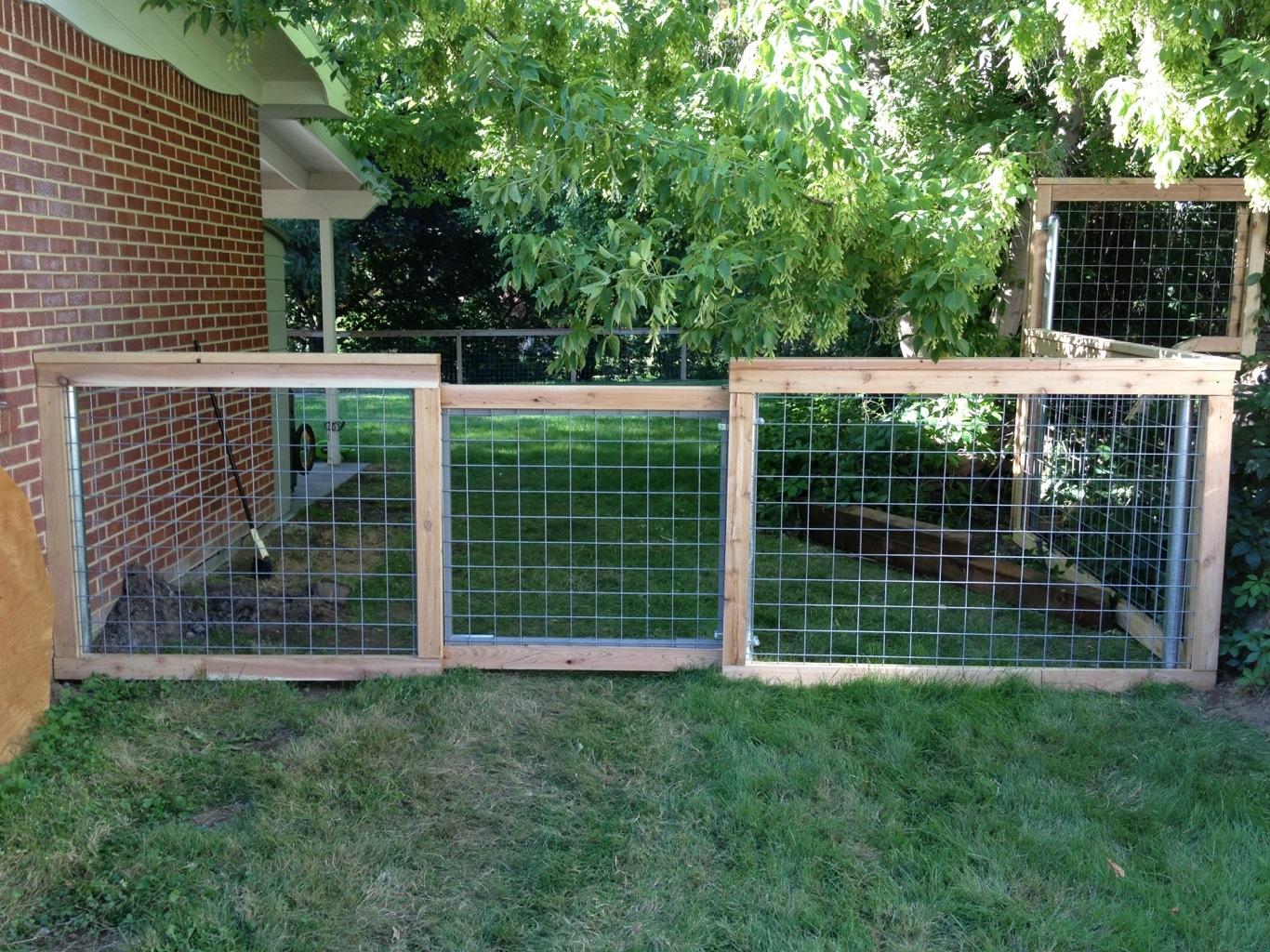Ограда из рабицы