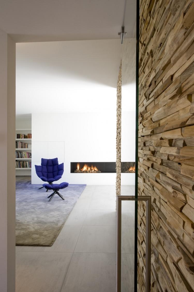 Панели из деревянных плашек в интерьере