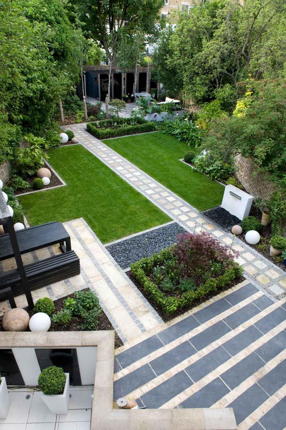 Ландшафтный дизайн участка с плиткой тротуарной