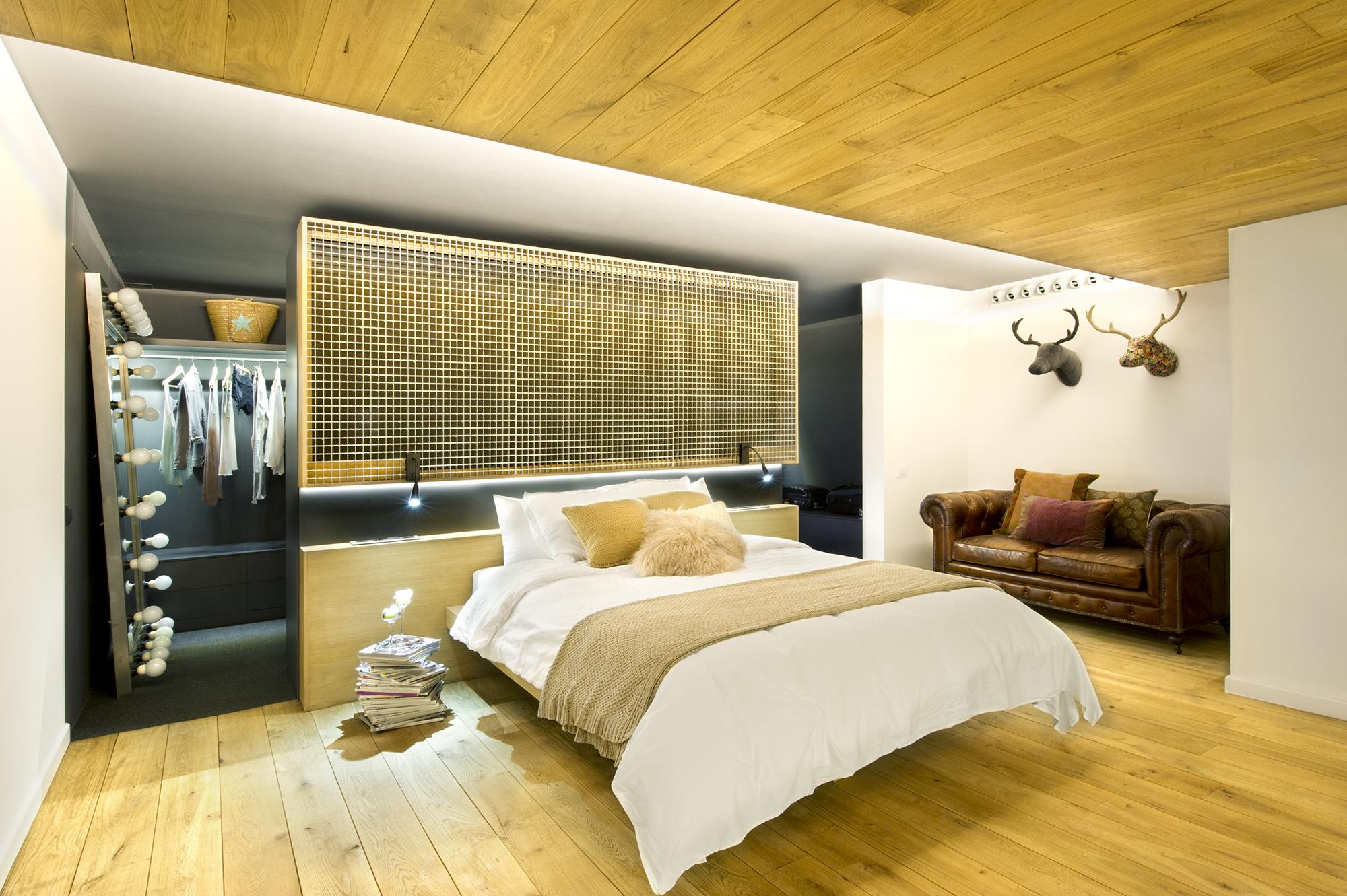Кровать подвесная в стиле лофт