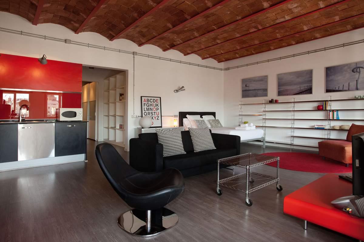 Гостиная в стиле лофт – свобода творческой мысли с фабричным оттенком (29 фото)