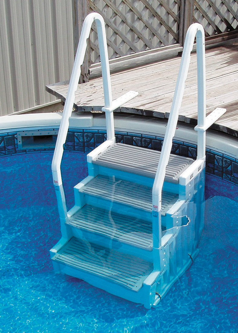 Лестница для бассейна с противоскользящим покрытием