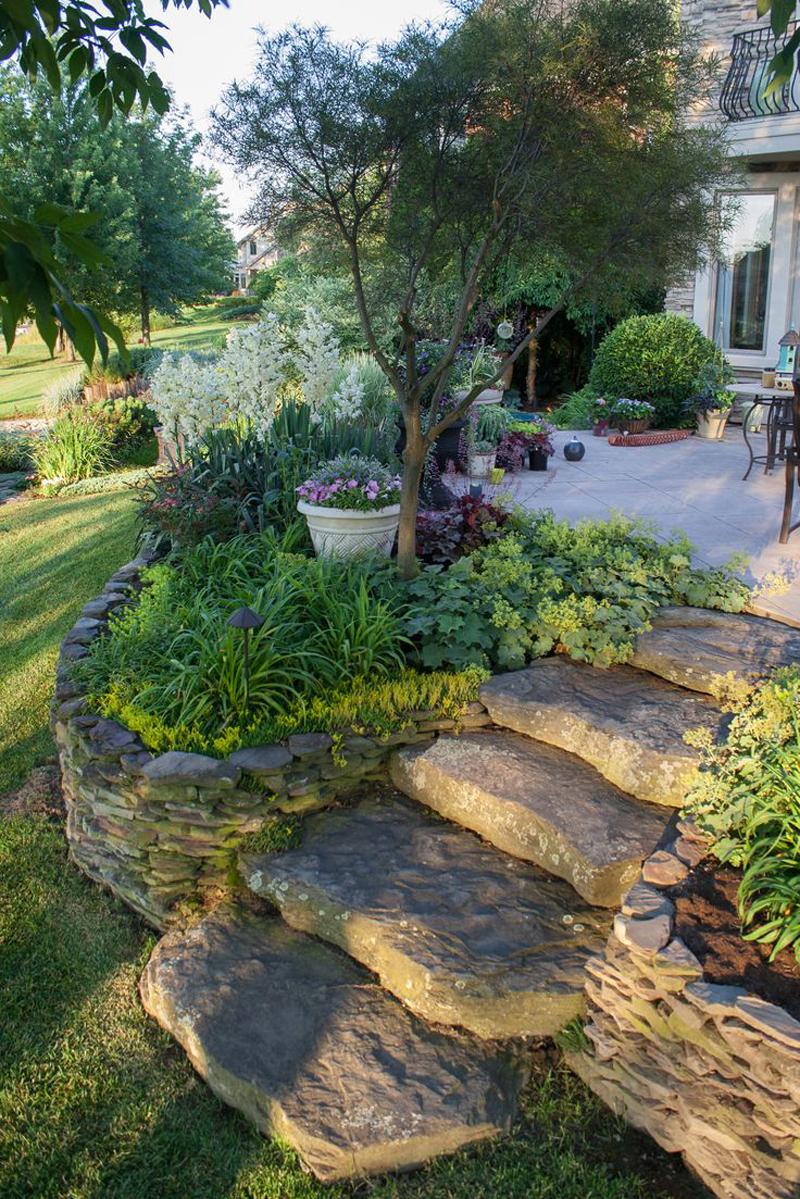 Ландшафтный дизайн участка в стиле прованс