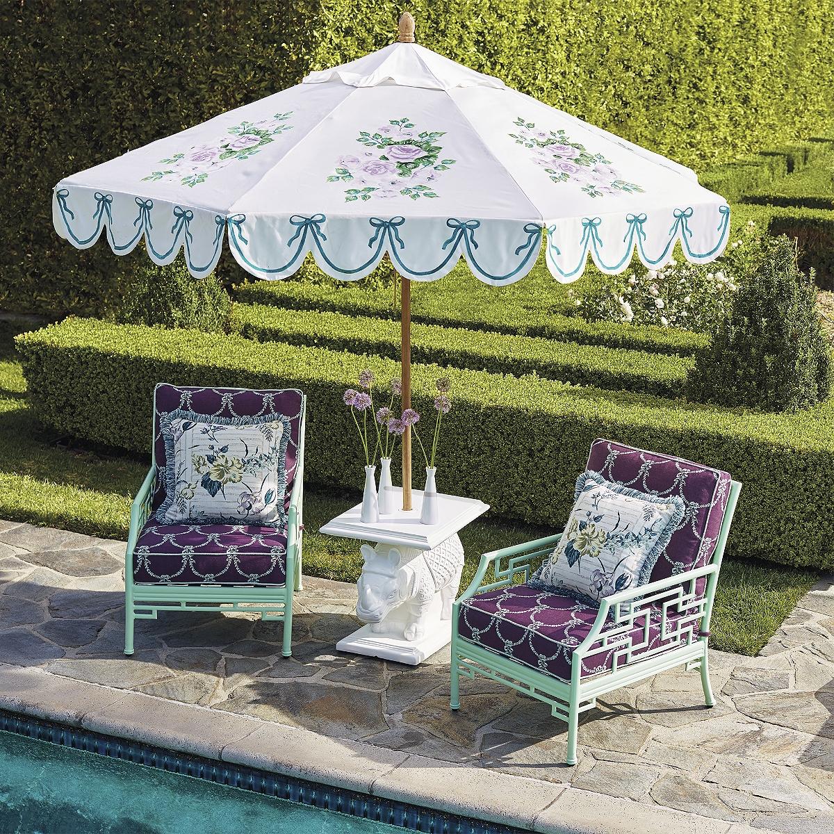 Садовый зонт в стиле прованс