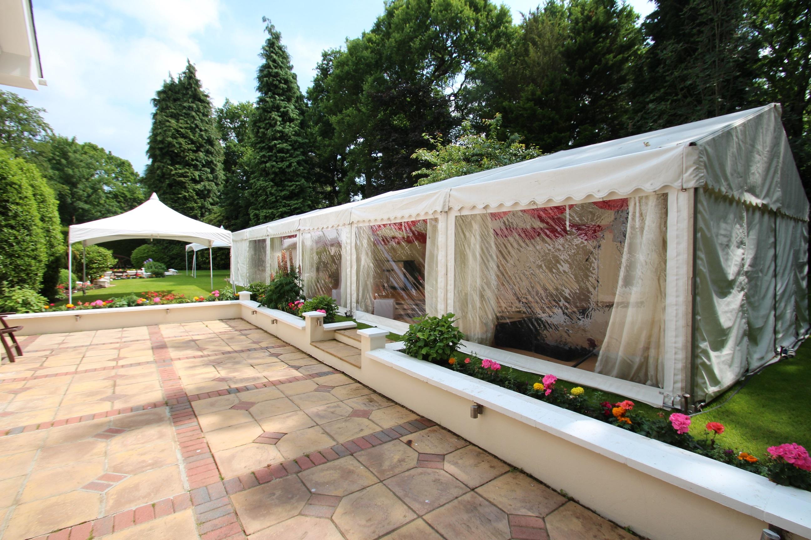 Садовый шатер прозрачный