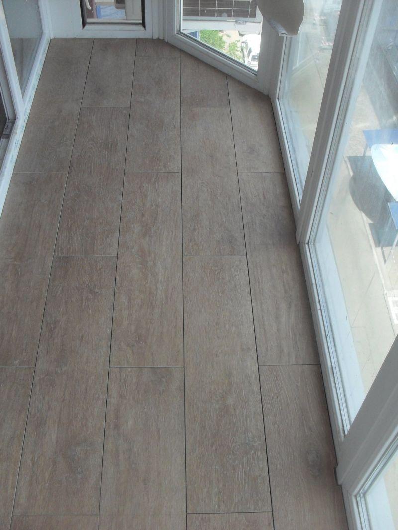 Прямоугольная плитка на балкон