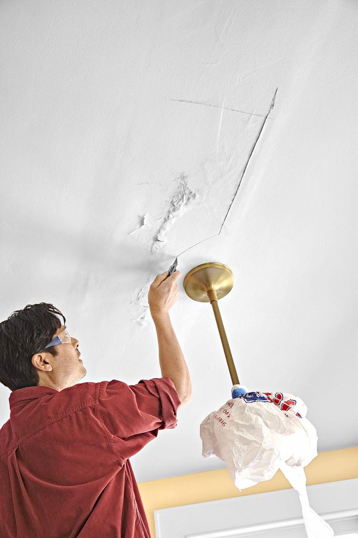 Ремонт потолка шпаклевкой