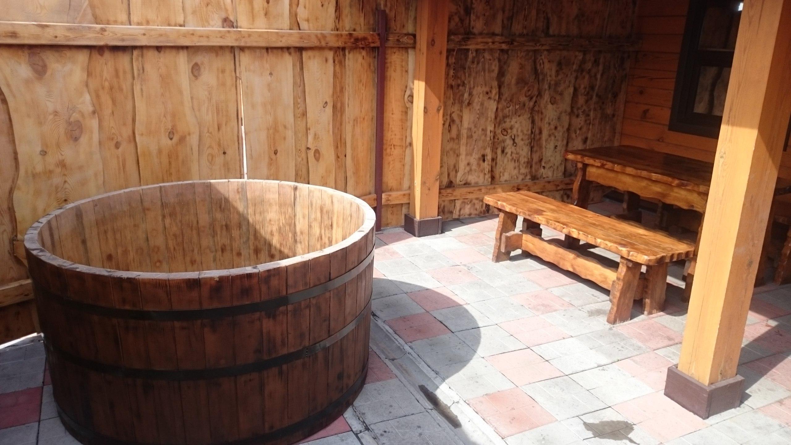 Купель для бани в саду
