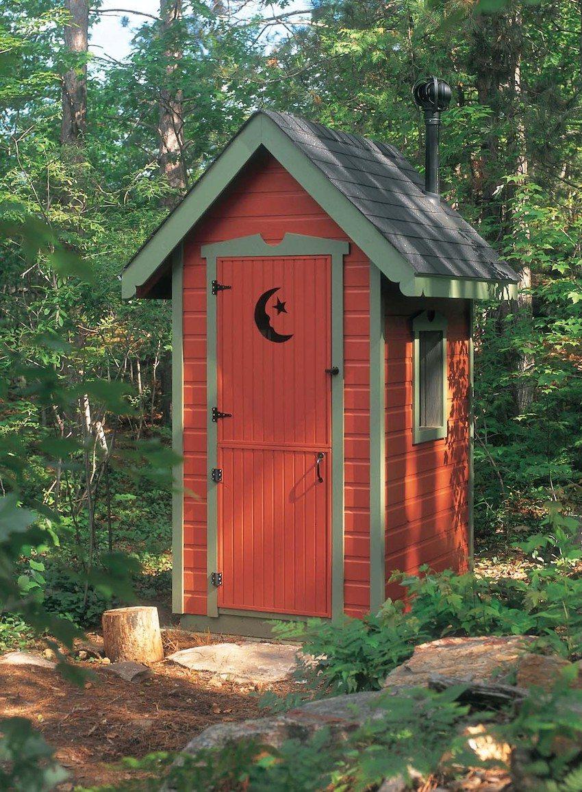 Садовый туалет из сайдинга