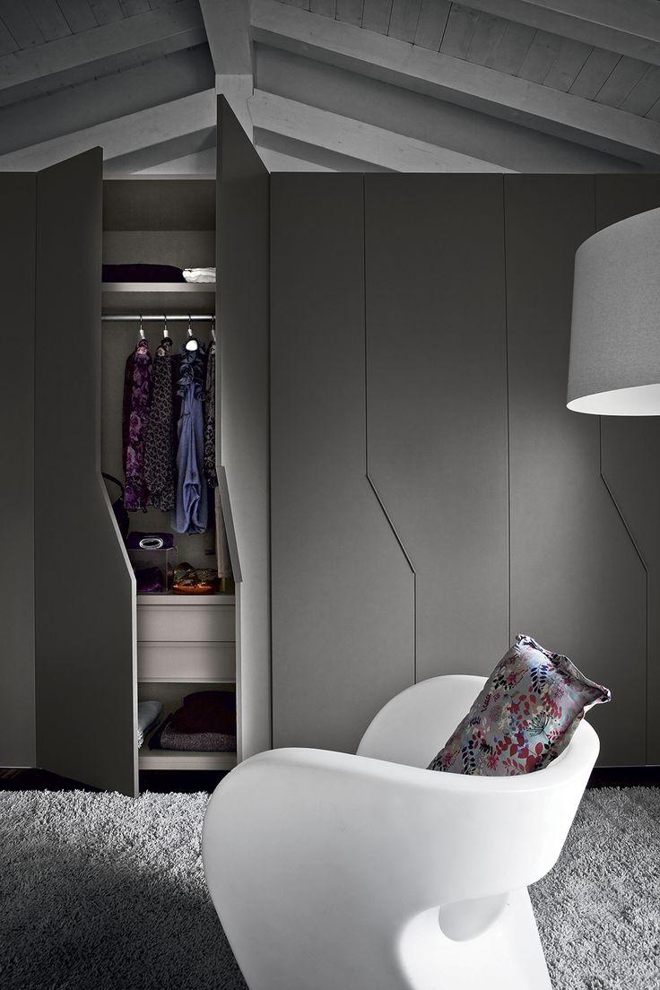 Шкаф лофт серый