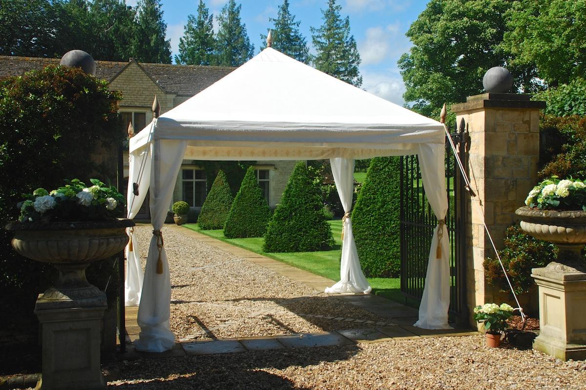 Садовый шатер с сеткой