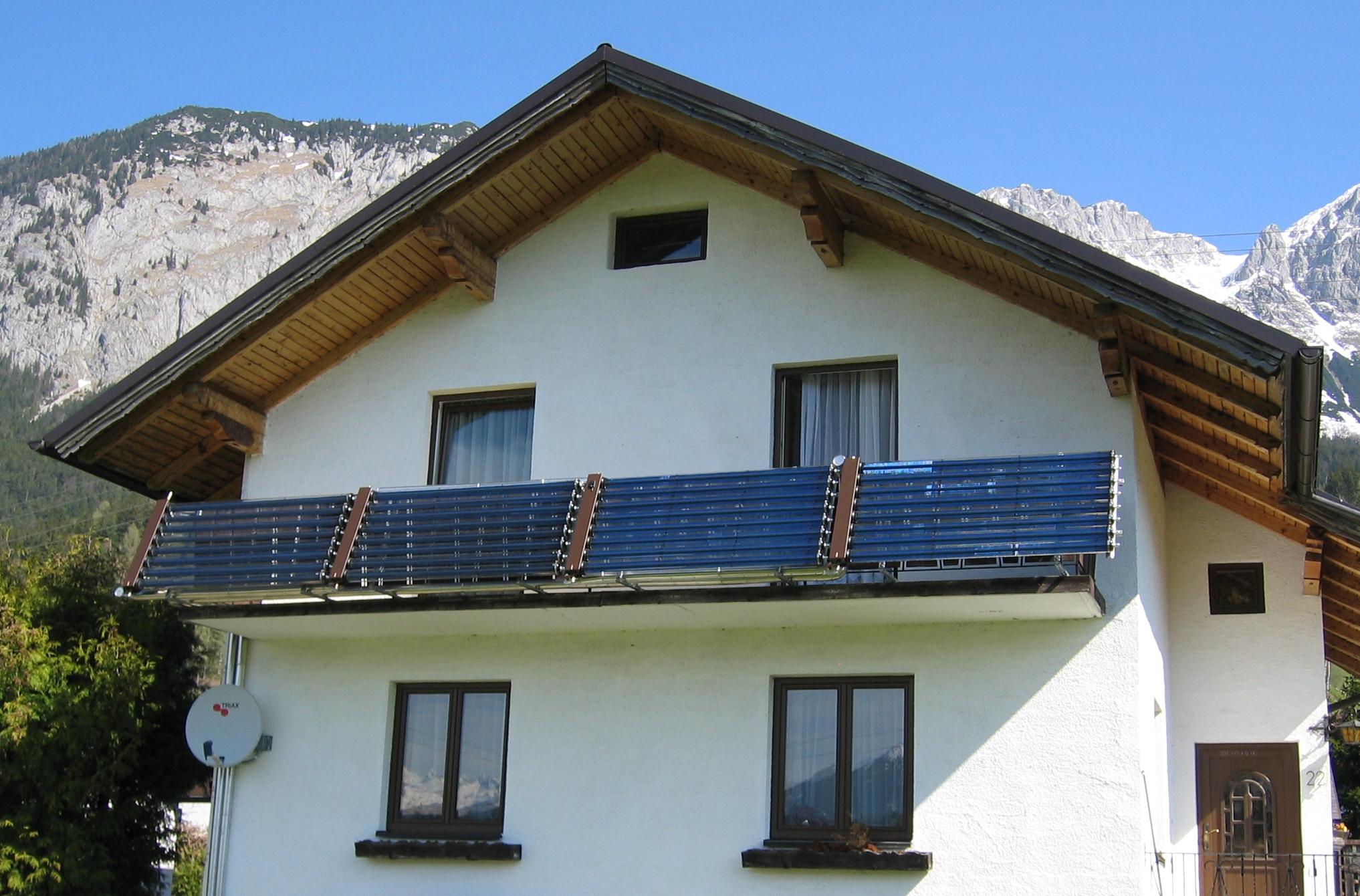 Солнечный коллектор для шале