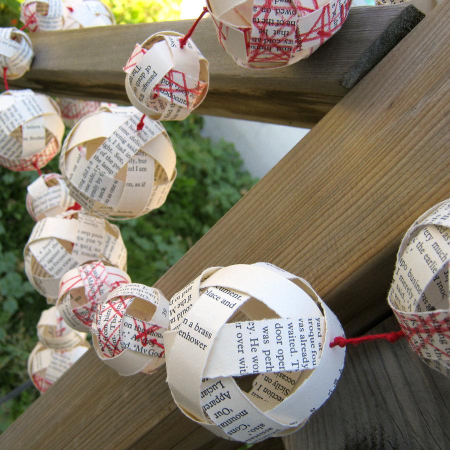 Гирлянда шары из бумаги