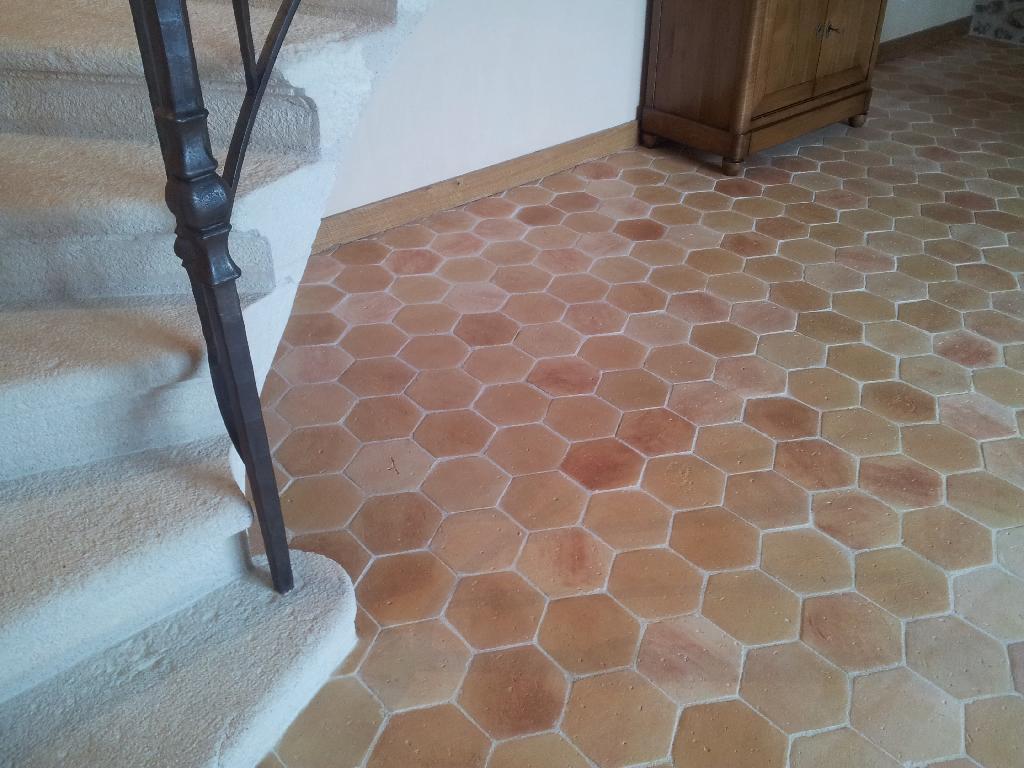 Плитка шестиугольная в стиле прованс