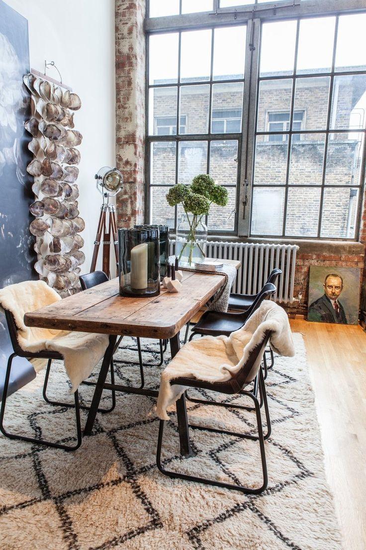 Состаренная мебель для лофт студии