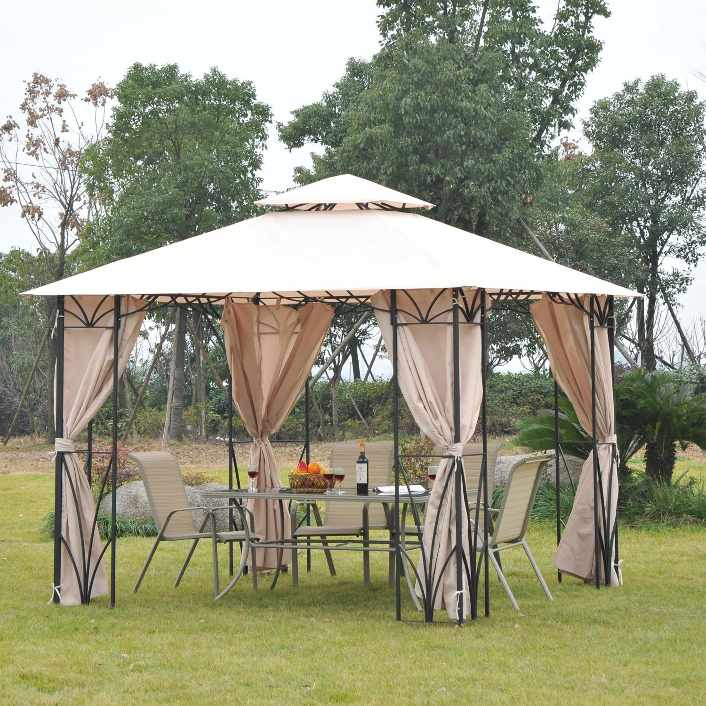 Садовый шатер на столбах