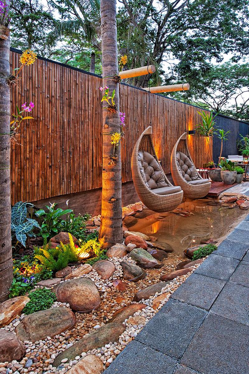 Ландшафтный дизайн в тропическом стиле