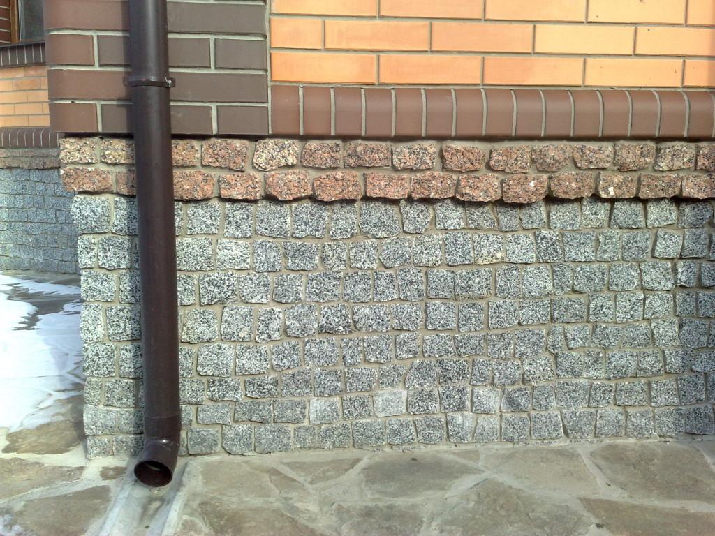 Тротуарная плитка для цоколя