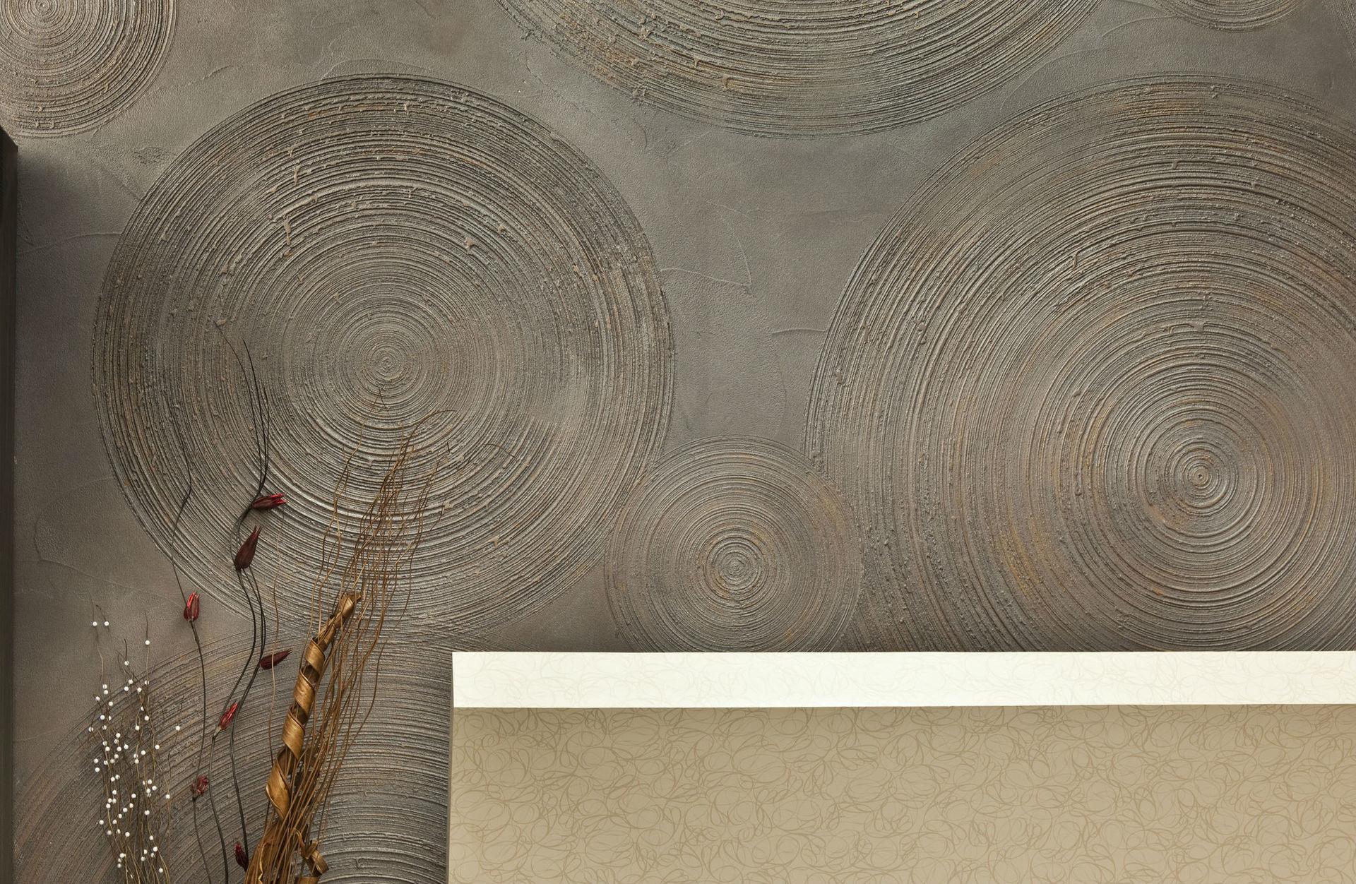 Декоративная штукатурка из обычной шпаклевки с узором