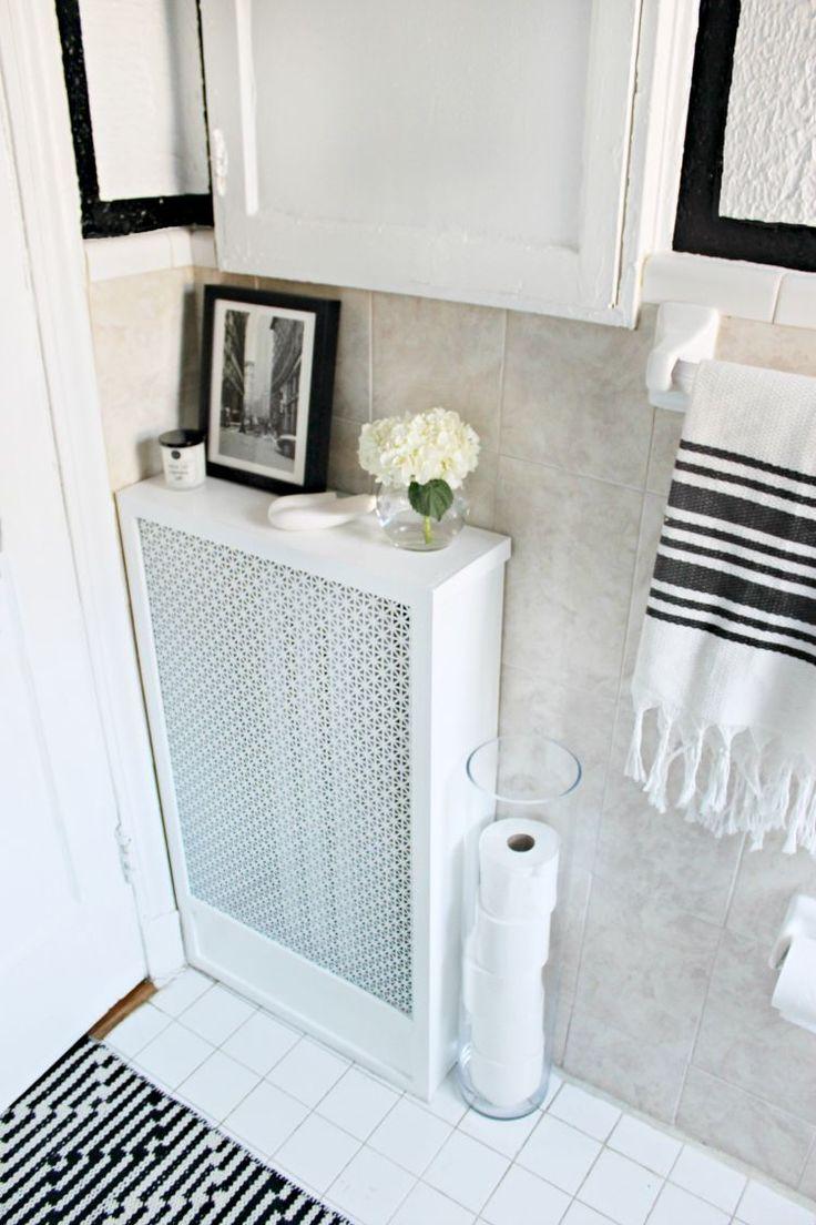 Напольный радиатор в ванной