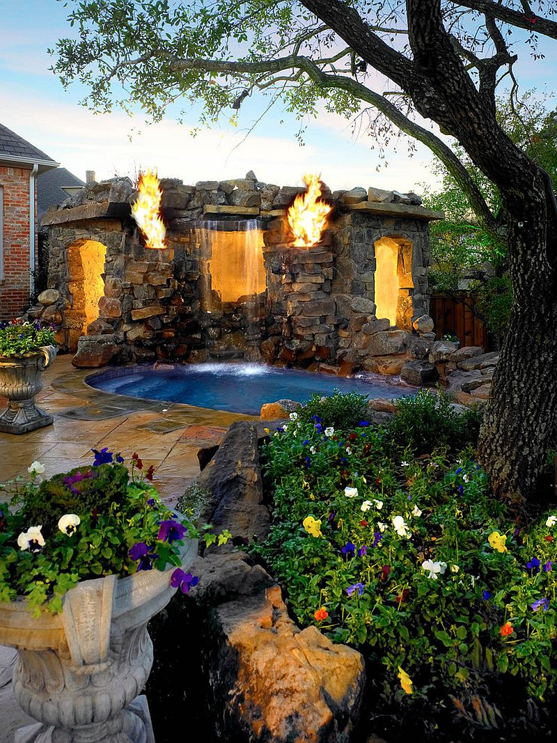 Ландшафтный дизайн сада с водопадом