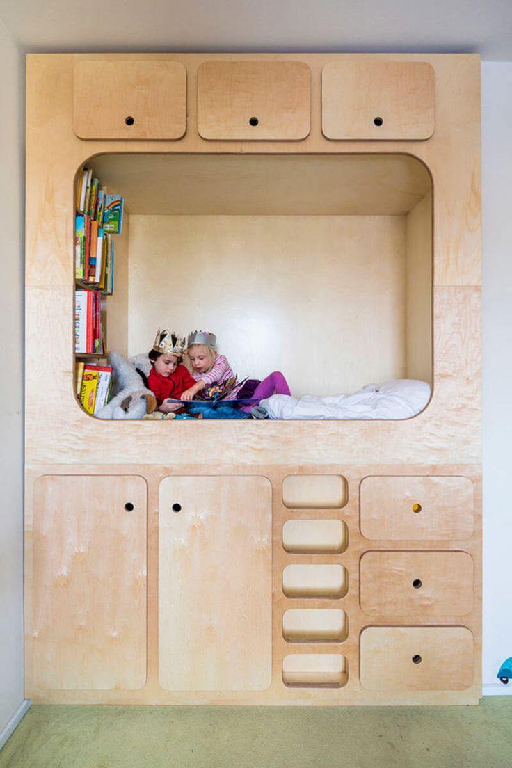 Встроенная мебель в детской в стиле лофт