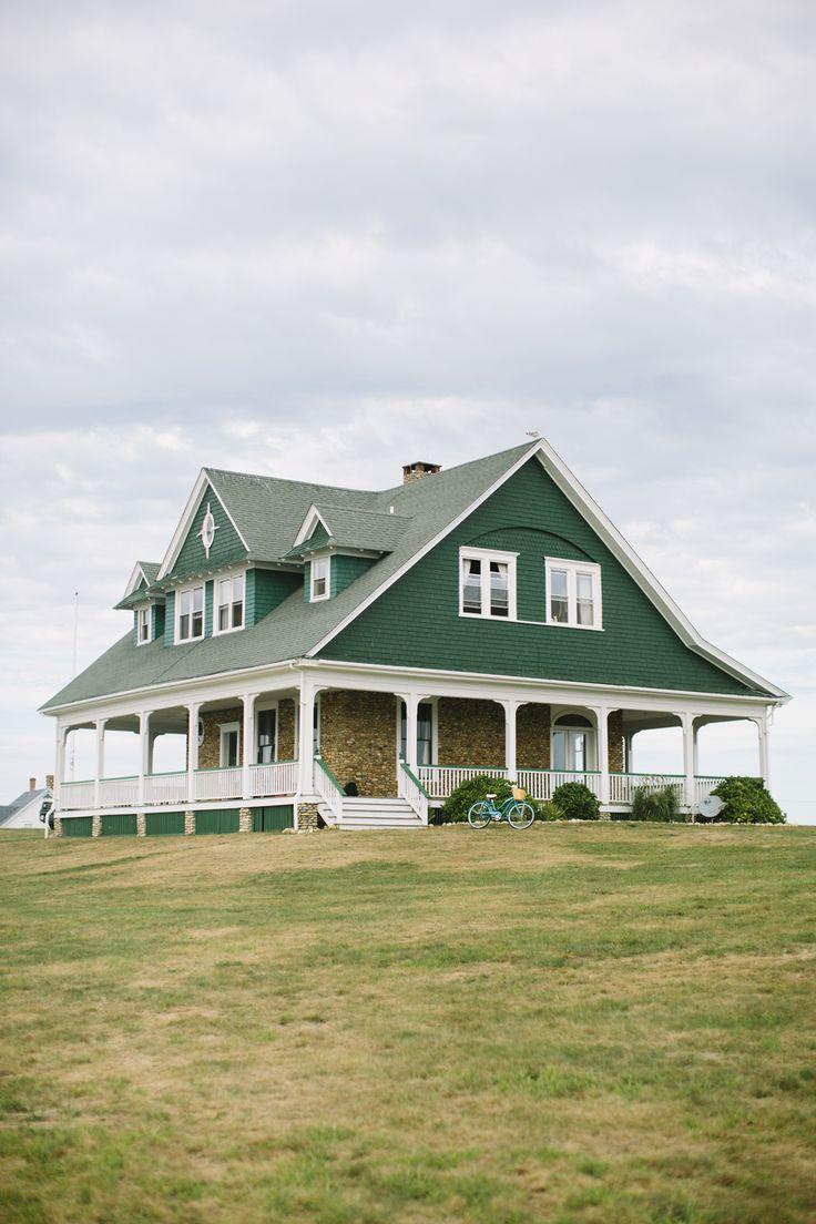 Сайдинг блок хаус зеленый