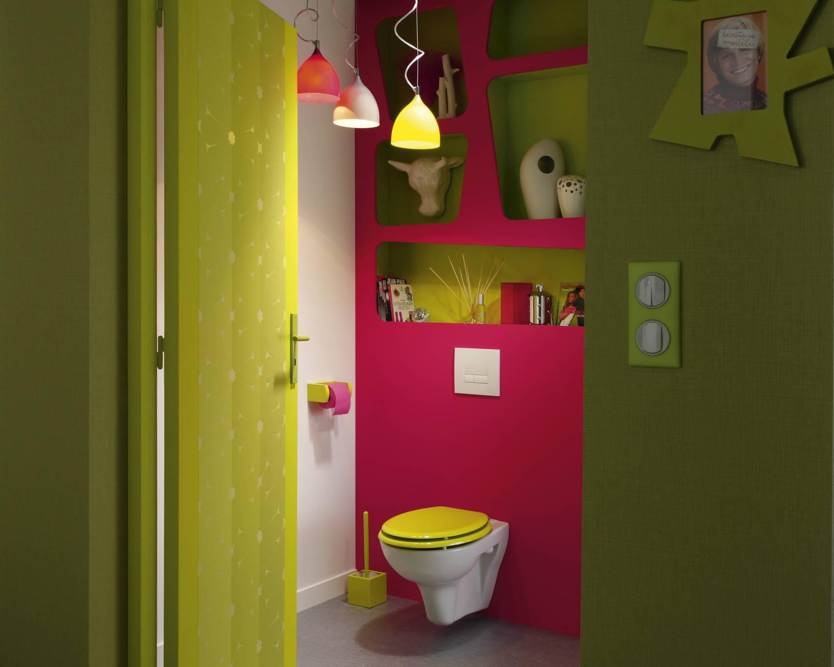Цветная желтая крышка для унитаза