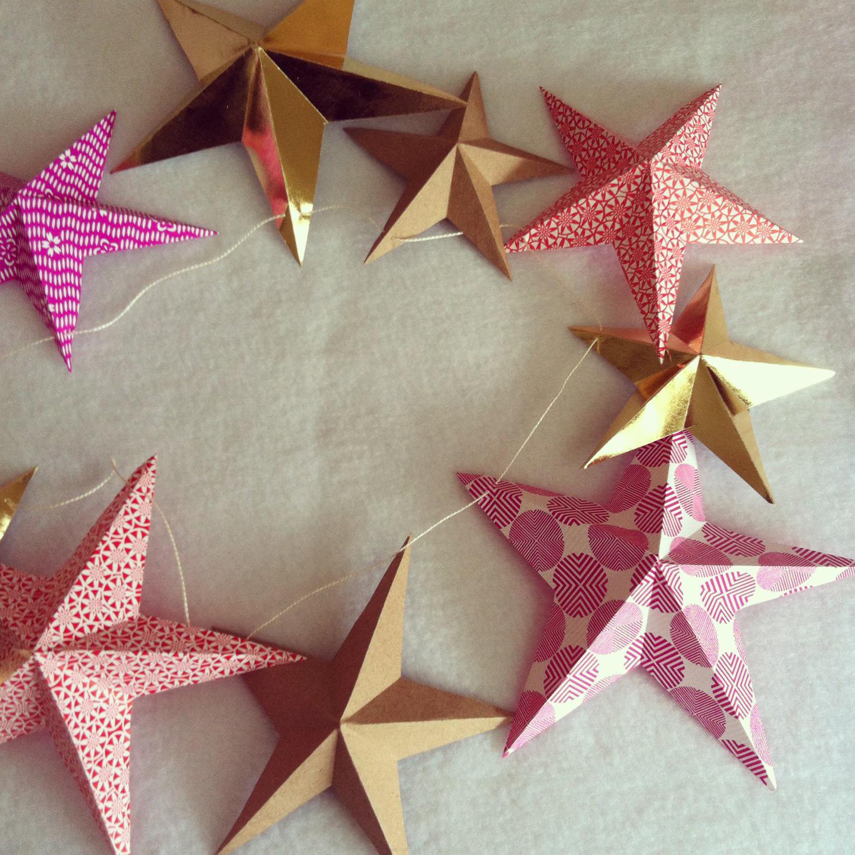 Гирлянда звезды из бумаги