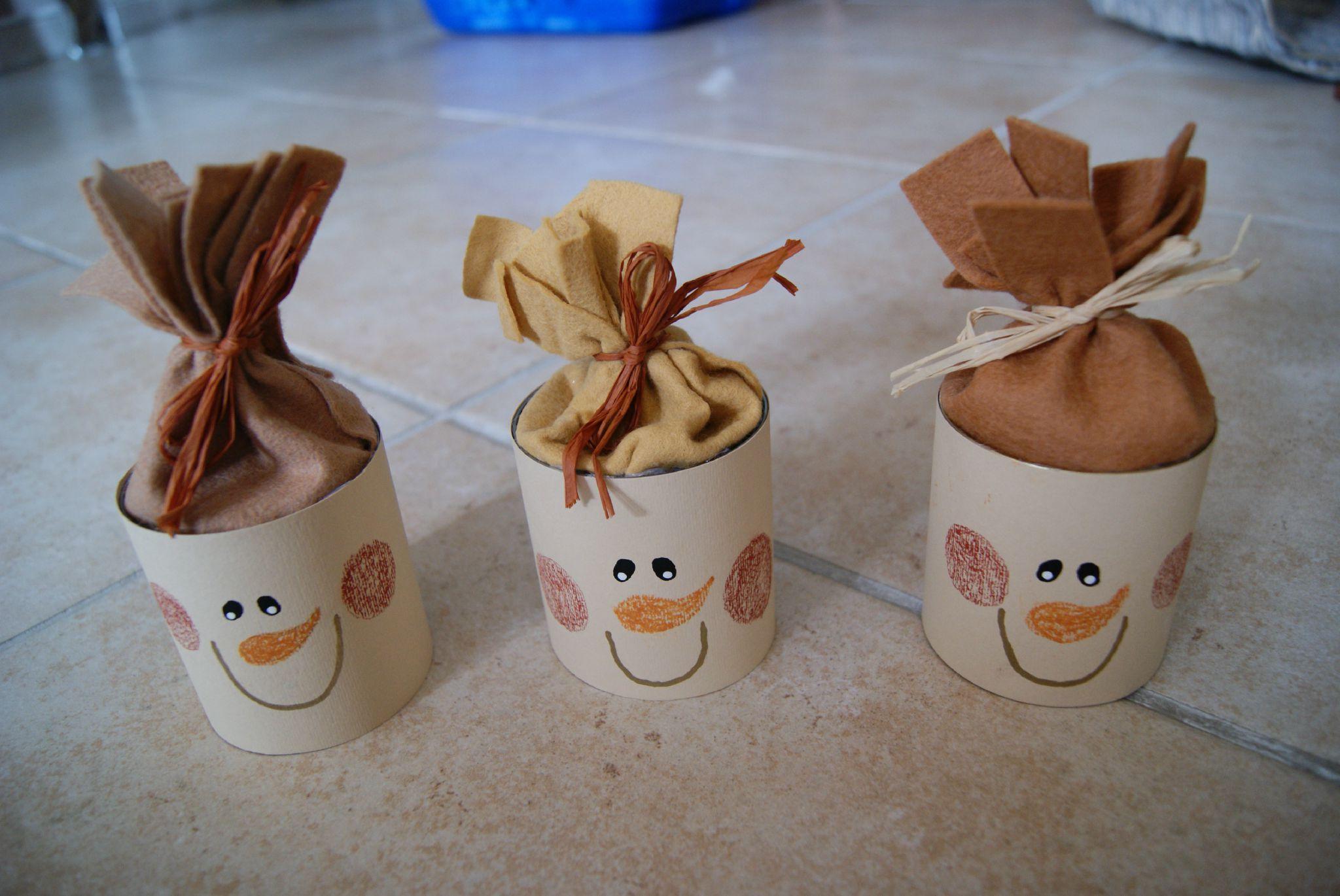 Снеговик из бумаги для подарков