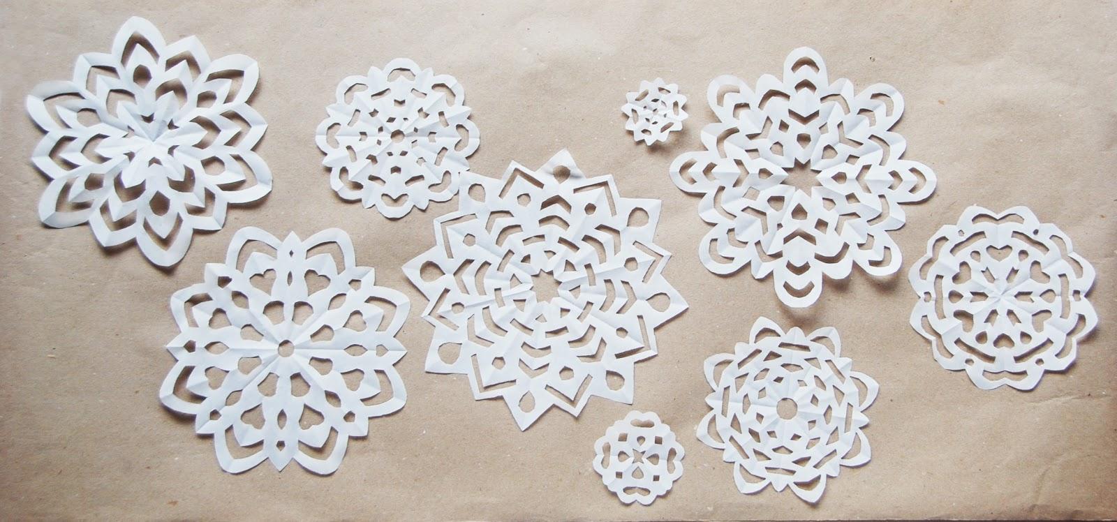 Ажурные бумажные снежинки