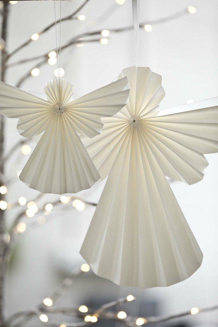 Новогодние ангелочки из бумаги