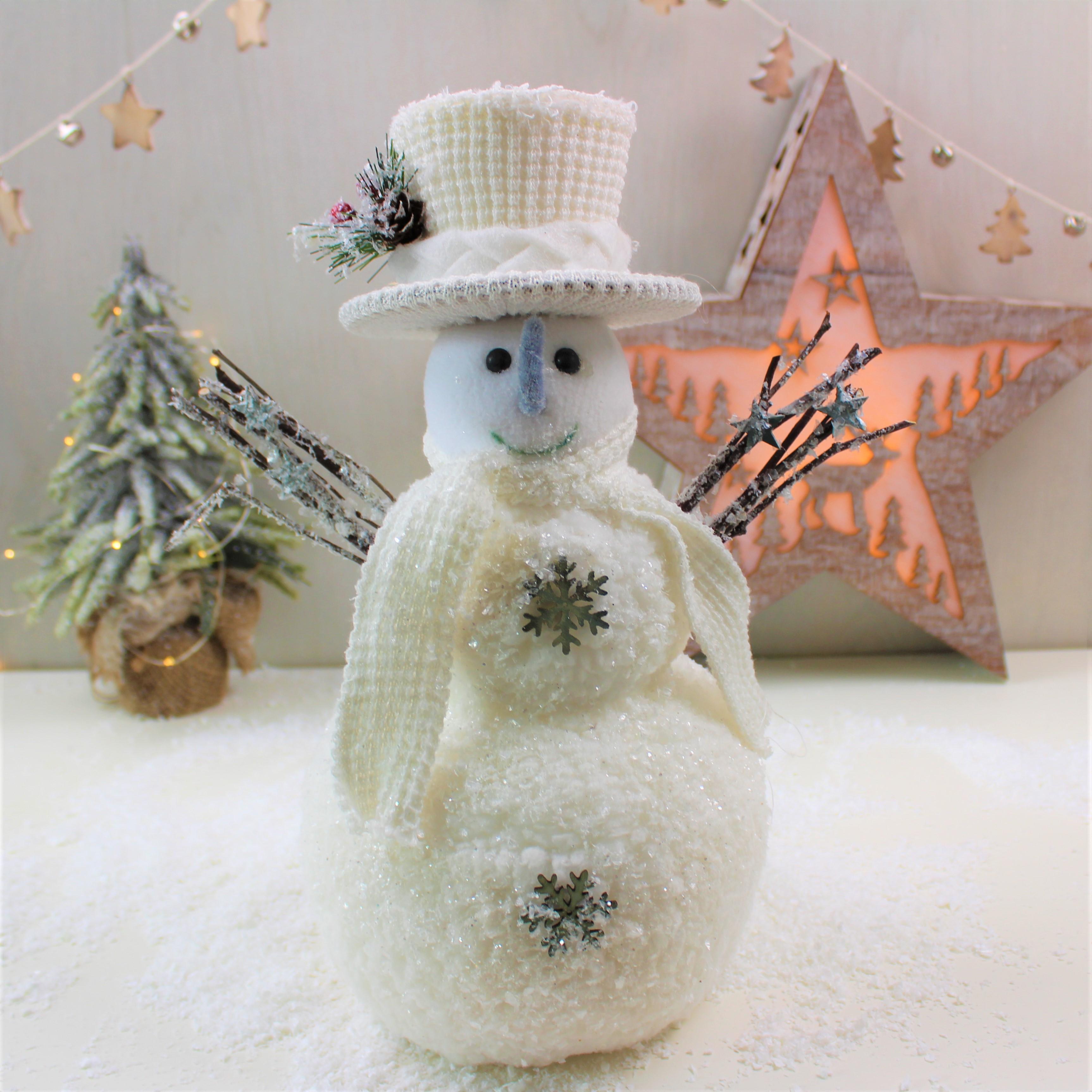 Как сделать белого снеговика
