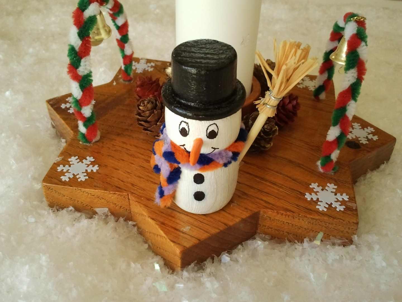 Как сделать снеговика из дерева