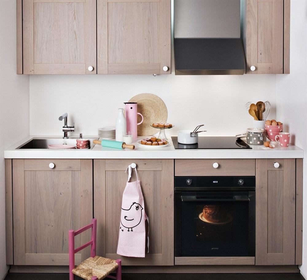 Деревянная кухня 6 кв м