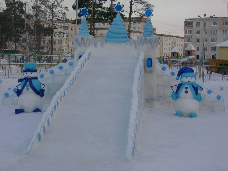 Снежная горка для детей