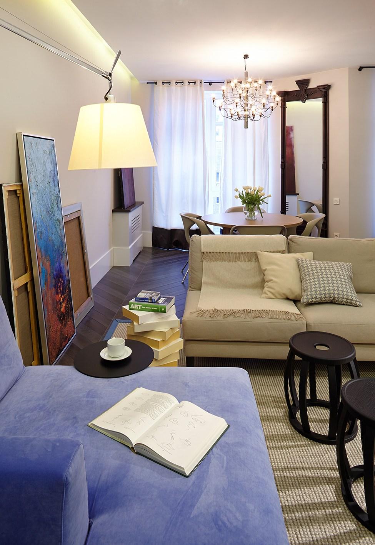 Дизайн однокомнатной хрущевки с диваном