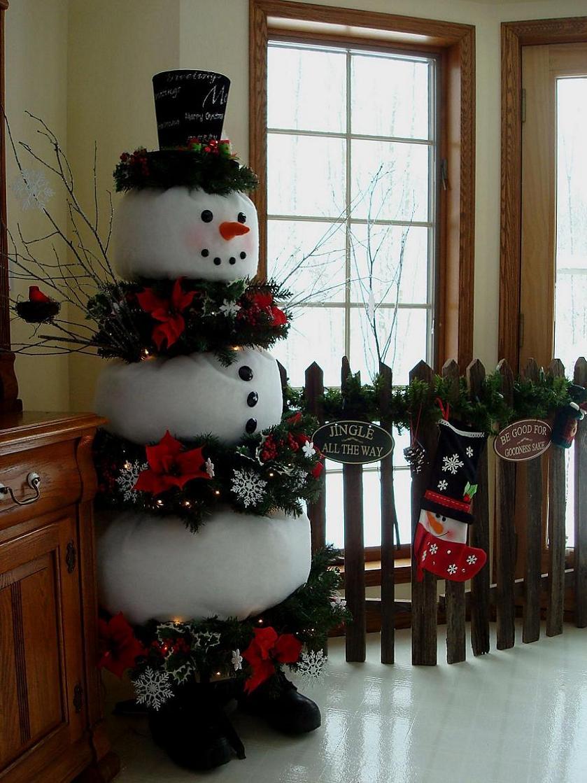 Как сделать снеговика для дома