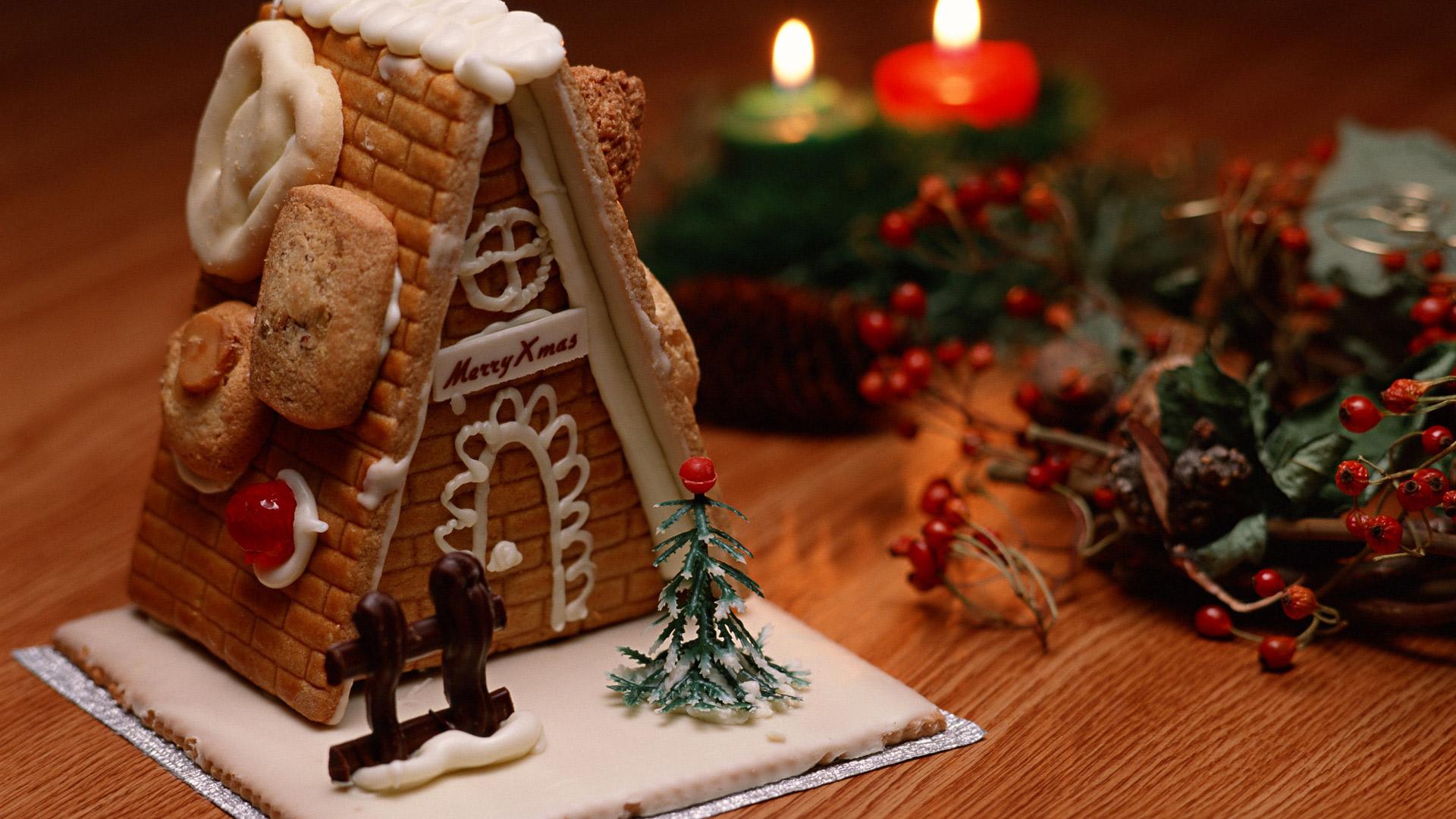 Пряничный домик в подарок на новый год