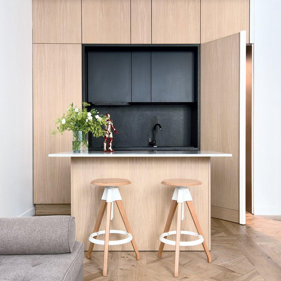 Двухуровневая кухня 6 кв м