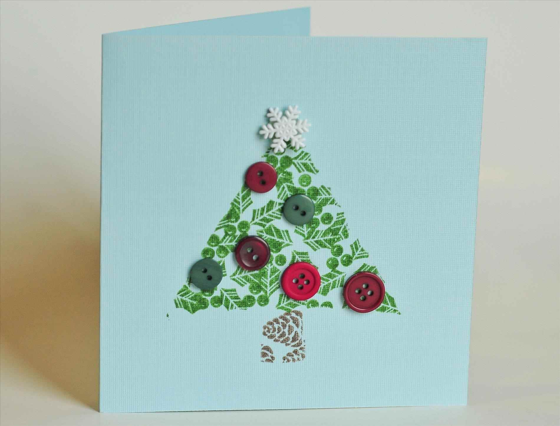 Новогодняя открытка с елочкой