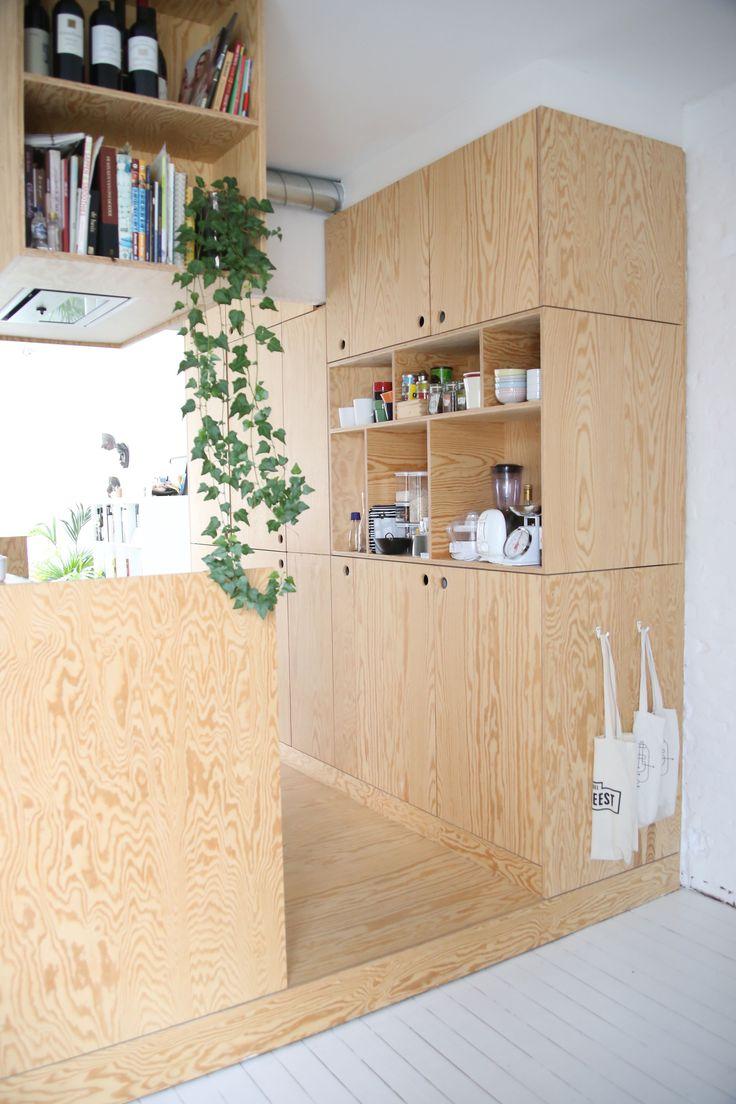 Кухня 6 кв м из фанеры