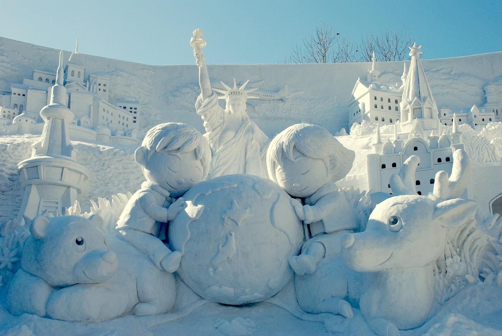 Снежная горка на фестивале