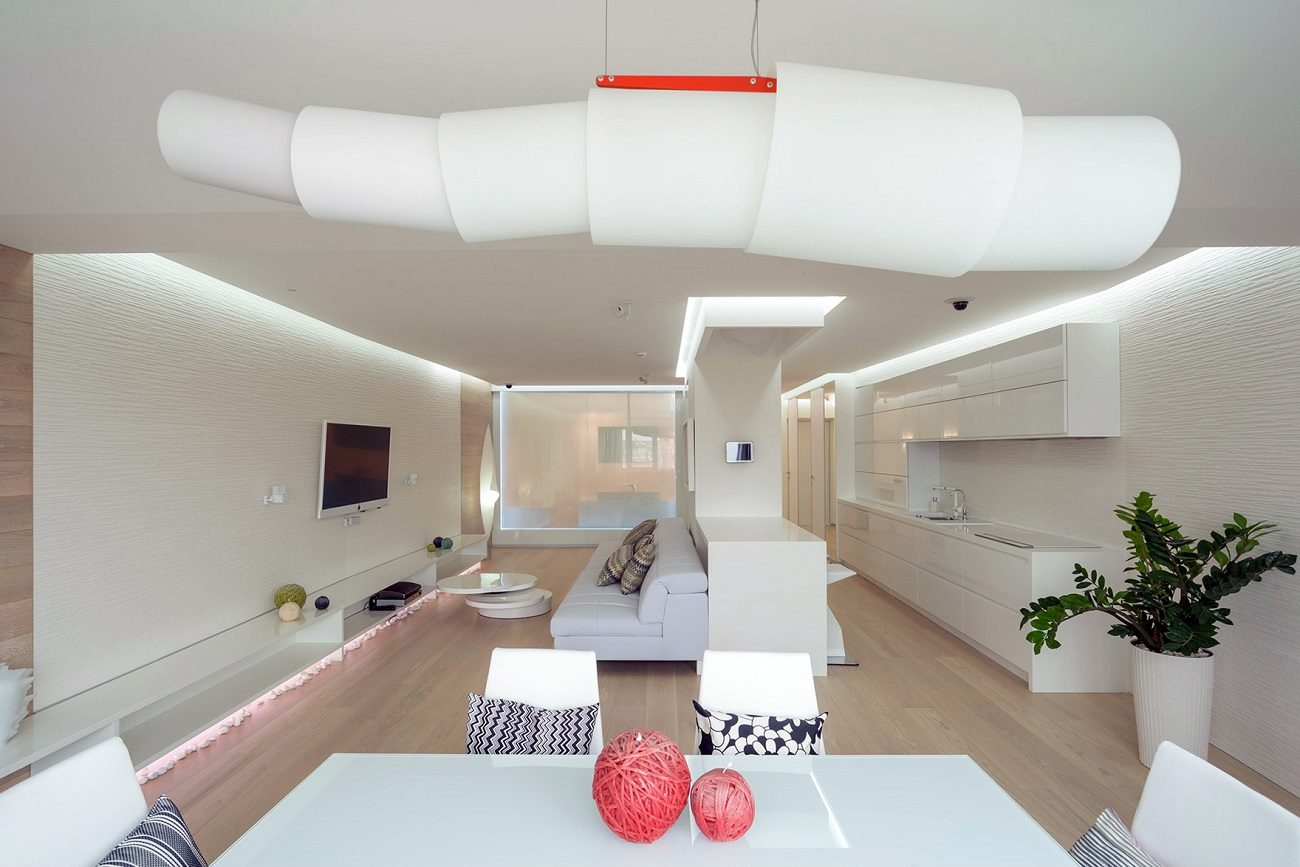 Идеи для однокомнатной квартиры в футуристичном стиле